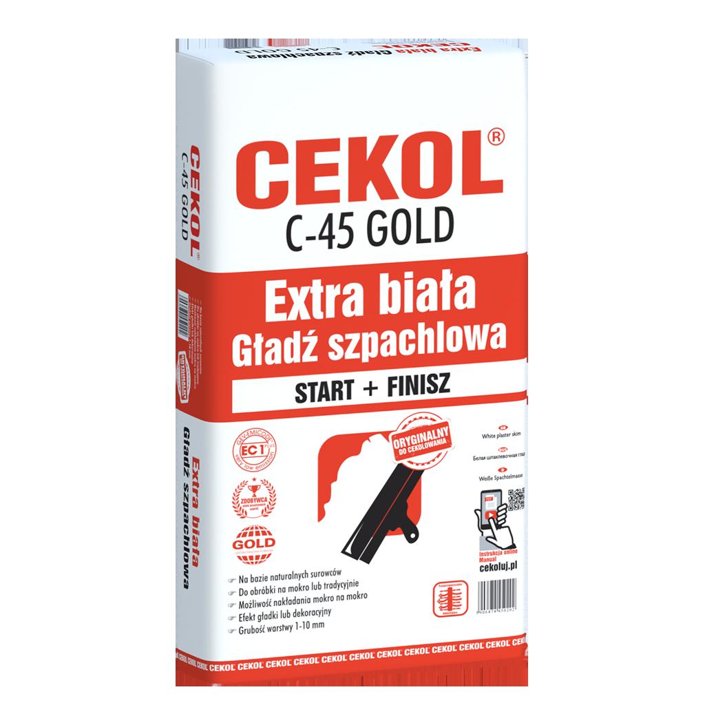 Cekol C-45 GOLD-Extra biała gładź szpachlowa