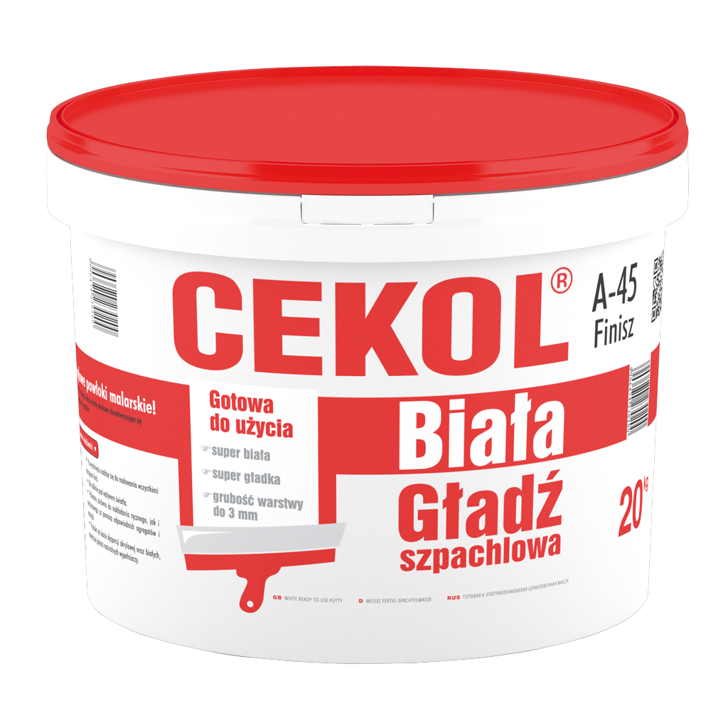 Cekol A-45 Finisz-White plaster finishing