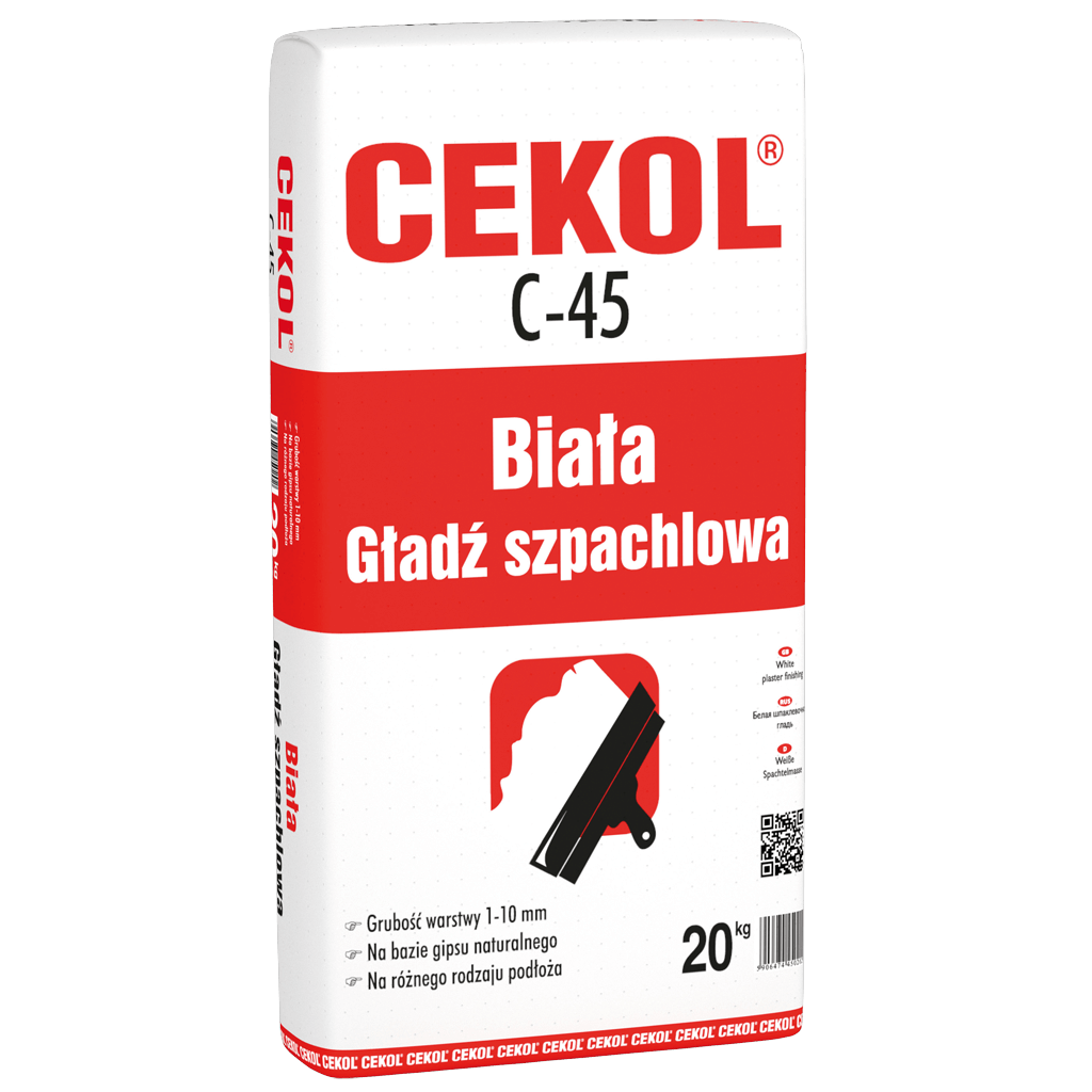 Cekol C-45-White plaster finishing