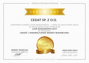 Laur Konsumenta- Lider XV-LECIA 2004-2019
